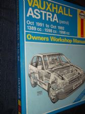 COLLECTABLE 1993 HB 1832 HAYNES WORKSHOP MANUAL 1991 1992 VAUXHALL ASTRA PETROL